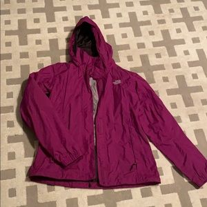 The north face purple rain jacket M